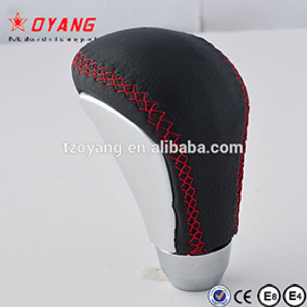 Leather and Alloy Slice Gear Shift Knob for Universal Cars